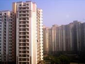 An apartment complex in Gurgaon, Haryana, India.