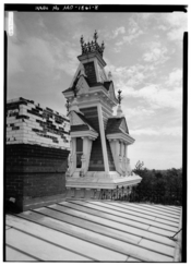 Harvey M. Vaile Mansion, 1500 North Liberty Street, Independence, Missouri, USA. Jack E. Boucher, photographer, April/May 1986. This image is from the Historic American Buildings Survey (HABS), Library of Congress, Survey number HABS MO-1861. As a product