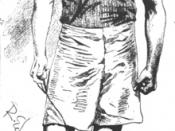 Sketch of Lee Talbott wearing the Mercersburg Academy colors, by Robert Edgren.