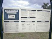 English: Groundwater Management in Wagga Wagga sign.