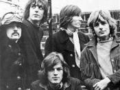 Pink Floyd in January 1968 Left to right: Mason, Barrett, Gilmour (seated), Waters and Wright