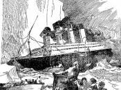 English: Titanic sinking Français : Le Titanic coule