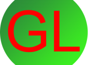 English: The logo of GLScript, open source 3D game scripting language.