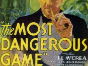 English: Low-resolution image of poster for the American motion picture The Most Dangerous Game (1932)
