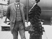 Sir Robert L. and Laura Borden aboard SS ROYAL GEORGE en route to England