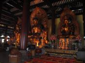 English: Buddhist statues in Guangxiao Temple (Bright Filial Piety Temple) in Guangzhou, China.