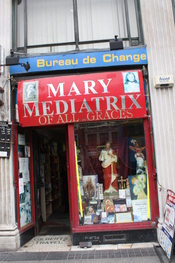 English: Mary Mediatrix of all Graces, O'Connell Street, Dublin, Republic of Ireland, October 2010