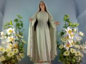 The image of Our Lady, Mary Mediatrix of All Grace enshrined at the vigil chapel at the Carmel of Our Lady, Mary Mediatrix of All Grace in Lipa City, Batangas