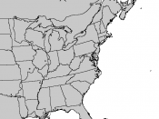 Eastern US blank range map