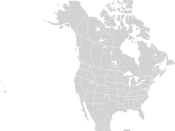 North America Blank Range Map