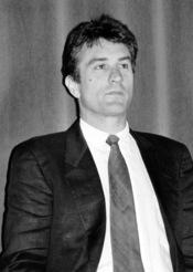 L'acteur américain Robert De Niro au Festival du cinéma américain de Deauville (Normandie, France) en 1988. Modifié par: Arad (Dust removed)