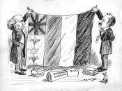 English: Political cartoon. Title: