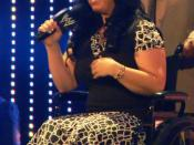 Vickie Guerrero at WWE SmackDown. Allstate Arena, Rosemont IL. Taken by me, cropped and rotated.