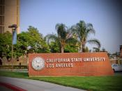 English: CSULA sign on Campus