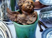 English: Still life with an angel on a flea market in Stuttgart, Germany