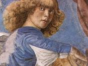 One of Melozzo's famous angels from the Basilica dei Santi Apostoli, now in the sacristy of St. Peter's.