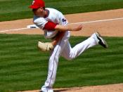 English: Scott Feldman pitching on April 9, 2009