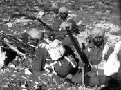 English: A group of Sikh soldiers from the British Indian Army during Operation Crusader.