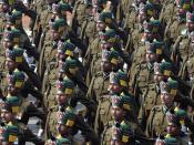 Português: Nova Délhi (Índia) - Desfile do Dia da República, na Rajpath.