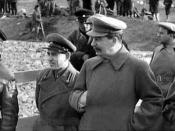 Сталин на строительстве канала Москва-Волга Stalin on building of Moscow-Volga canal