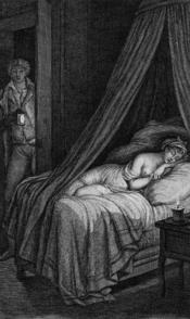 Illustration of Pierre Choderlos de Laclos' Dangerous Liaisons' Letter 96 Valmont entrant dans la chambre de Cécile endormie
