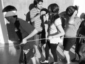 Español: Mechoneo en la carrera de Diseño de la Universidad de Talca.