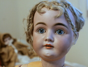 Original description on flickr: This another doll that was owned by my great aunt. I had her re-strung at the NY Doll Hospital. I was told that she is a German doll from about 1900. I believe she is a German Bisque Kestner, Mold 171.