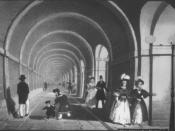 The Thames Tunnel (opened 1843). Cement was used in the world's first underwater tunnel