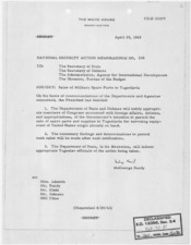 National Security Action Memorandum No. 236 Sales of Military Spare Parts to Yugoslavia - NARA - 193612