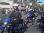 English: San Francisco Police Dirt Bikes at SF Giants World Series Victory Parade, 2010