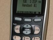 Uniden 2.4 GHz cordless phone model DCT 5285 handset.