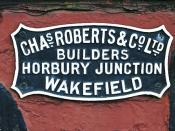 Chas Roberts Works Plate