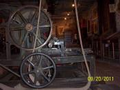 English: Antique printing press at the Mark Twain Territorial Enterprise Museum, Virginia City, NV