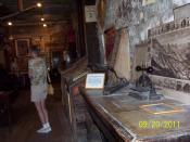 English: Composing table at the Mark Twain Territorial Enterprise Museum, Virginia City, NV.
