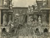 English: Still from Intolerance by D. W. Griffith, a 1916 silent film. Scanned from an art book.