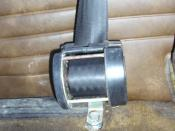 Inertial reel belt (with roll exposed), retrofitted in a 1973 SAAB 99L.