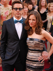 Robert Downey Jr. and wife Susan arrive at the 82nd Academy Awards, March 7, in Hollywood, Calif.