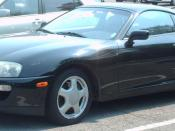 1993-1995 Toyota Supra photographed in Montreal, Quebec, Canada.