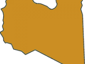 A very plain map of Libya with a sandy color, to avoid any political connotation
