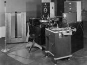 Photograph of Sound Recording Equipment from the Division of Motion Pictures, 1941