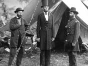 Allan Pinkerton, an early American private investigator, with Abraham Lincoln and John Alexander McClernand