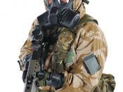 Soldier Wearing GSR General Service Respirator
