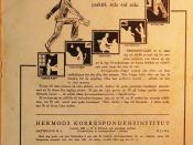 English: Advertisement for correspondence courses by Hermods in Sweden