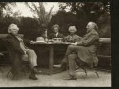 Gruppebilde av Edvard og Nina Grieg, Percy Grainger og Julius Röntgen, 1907