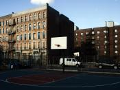 Abandoned buildings in Mott Haven awaiting renovation to house low income residents.