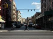 Looking east down East 136th Street in the Mott Haven section of the Bronx