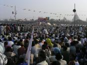 Huge rallies like this one in Kolkata are commonplace in India.