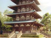 Japanese pagoda in Walt Disney World, Florida, USA