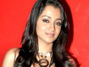 English: Trisha Krishnan at a special screening of Khatta Meetha