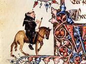 Portrait of the Friar from the Ellesmere Manuscript of The Canterbury Tales by Geoffrey Chaucer